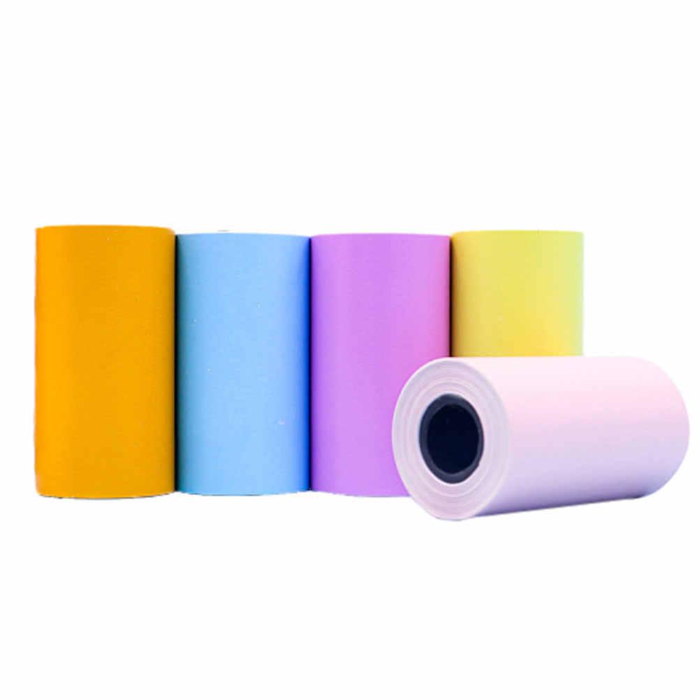 6 рулонов/Набор для фотопринтера термальная бумага для наклеек паста непрерывный Профессиональный карман прозрачные красочные самоклеящиеся