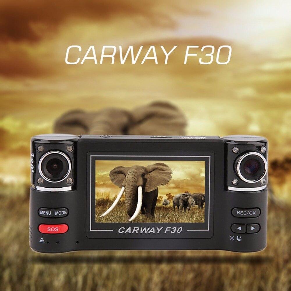 "2.7"" Dual Lens Car Vehicle 1080P HD Dash Camera DVR Cam Night Vision Recorder HDMI Output G-sensor Function Reset Function"