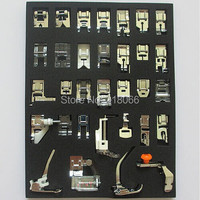 32 Presser Feet Foot For Brother Singer Toyota Domestic Sewing Machine Part Set