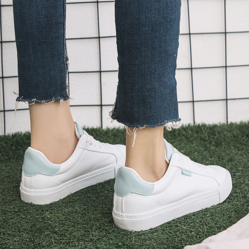 SWYIVY Women Walking Shoes Flat Heel Breathable White Sneakers 2018 New  Autumn Lace-up Comfortable Women s Sports Shoes US 21.45   pair  lot 1 ae07bff383cb