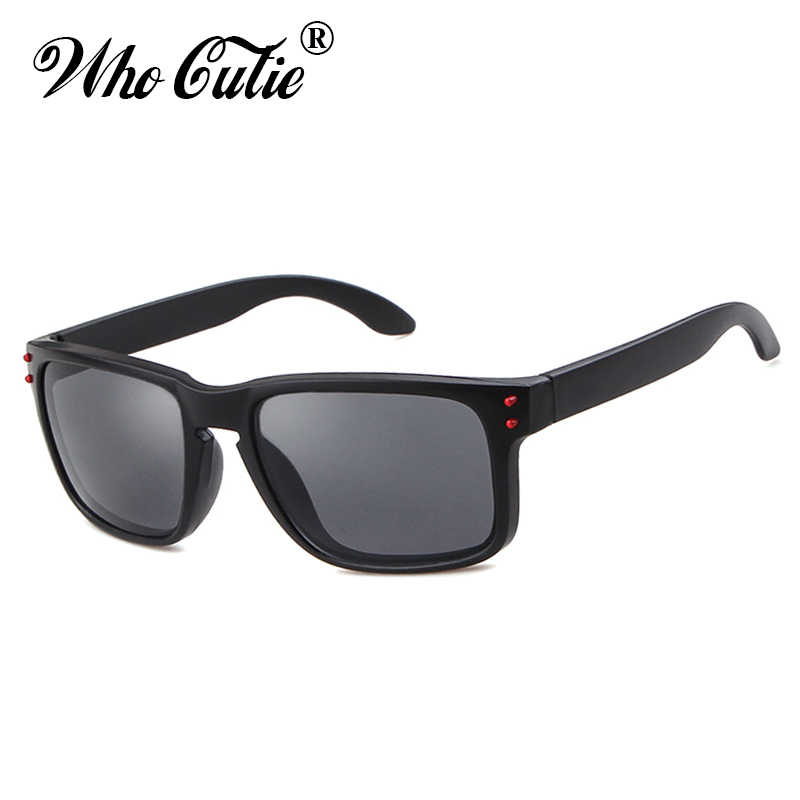 WHO CUTIE Black Rectangular Sunglasses Men Driver 2019 Brand Designer  Square Frame Male Female Sun Glasses b6ef5765c3