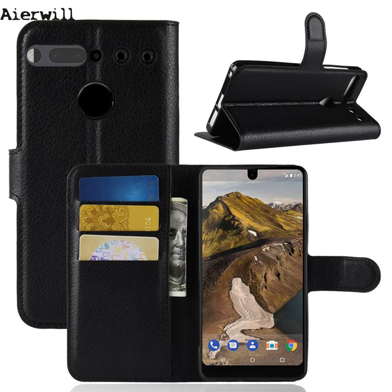 Flip Wallet Pu Leather Case For <font><b>Essential</b></font> <font><b>Phone</b></font> Ph-1 Case Cover Tpu Silicon Kickstand Cover For <font><b>Essential</b></font> Ph-1 Coque With Magnet