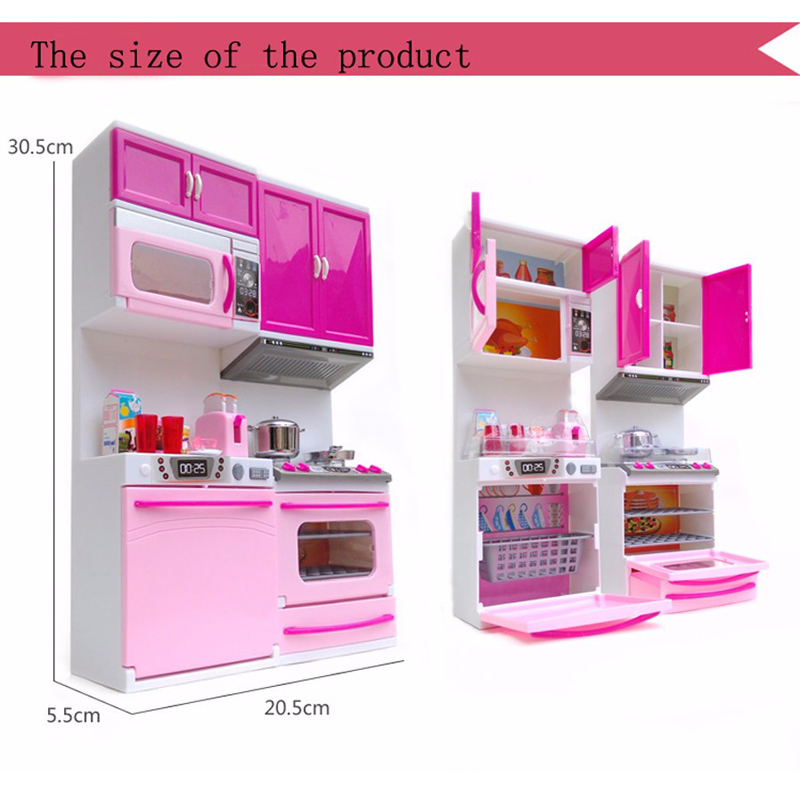 Kids Kitchen Toy For Girl Children Toys Plastic Educational Pretend Toys  Led Light Sound Stove Oven Cute Pink Toy Cocina Juguete In Kitchen Toys  From Toys ...