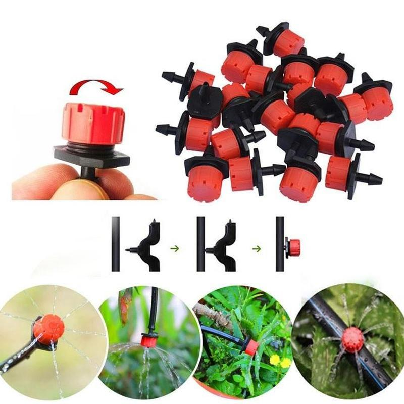 10pcs Fixed Garden Sprayer Hook Rod Bubbler Adjustable Drip Irrigation Emitters Water Dripper For Micro-irrigation Garden Flower