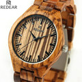 REDEAR906 all bamboo material luxury men's watch, watch of wrist of high-end brands, fashion quartz watch, archaize casual watch