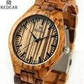 REDEAR906 todo o material de bambu relógio dos homens de luxo, relógio de pulso de marcas high-end, relógio de forma de quartzo, archaize relógio ocasional