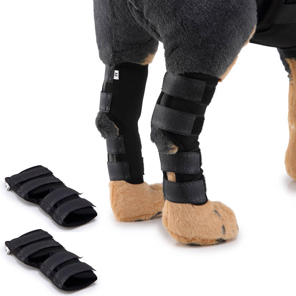 High Quality Dog Support Brace Pet Knee Pads for Hind Leg Hock Joint Wrap Breathable Injury Recover 8 1618 XHC88