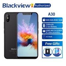 """BLACKVIEW A30 téléphone 2 GB RAM 16 GB ROM Smartphone 5.5 """"19:9 affichage plein écran MT6580A Quad Core 8MP Android 8.1 3G téléphone portable"""