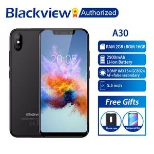 """Image 1 - BLACKVIEW A30 telefon 2GB RAM 16GB ROM Smartphone 5.5 """"19:9 wyświetlacz pełny ekran MT6580A czterordzeniowy 8MP Android 8.1 3G telefon komórkowy"""