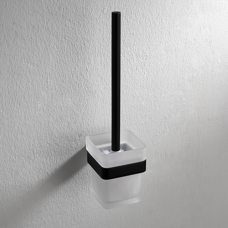 AUSWIND Antique Toilet brush holder with glass cup black oiled bronze 304 stainless steel Square base wall mount bathroom holder модель машины welly уаз 31514 полиция 1 34