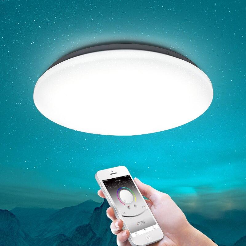 Luz de Teto LEVOU moderno 25 W Mudança de Cor RGB Dimmable de Controle Remoto Inteligente Lâmpada Para Sala Quarto AC165-265V