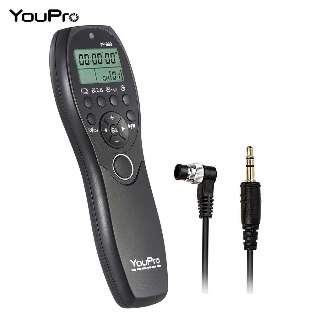 YouPro YP-880 N3 Камеры Проводной Спуска затвора ЖК-Дисплей Таймер Пульт Дистанционного управления для Canon 7D 5D 5D2 5D3 5DS 5DSR 1D т. д. DSLR
