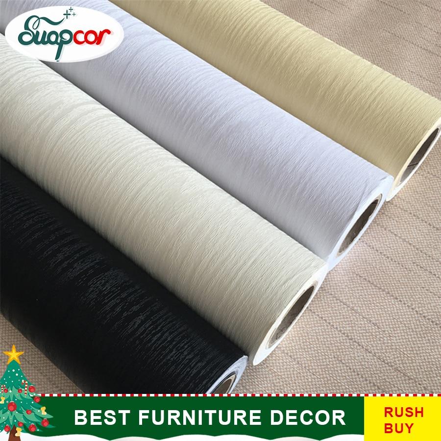 PVC Self adhesive Wallpaper Furniture Renovation Stickers Waterproof Kitchen Cabinets Wardrobe Door Wood Decorative Boeing Film