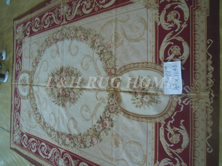 Free shipping  8.2X1.48 (250x350cm)  French Aubusson rug/carpet  hand woven handmade rugs for home decorationFree shipping  8.2X1.48 (250x350cm)  French Aubusson rug/carpet  hand woven handmade rugs for home decoration