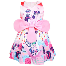 2019 Summer my little Girls Dress Baby girl Clothes Princess Party Unicorn print Christmas clothes pony Big Bow