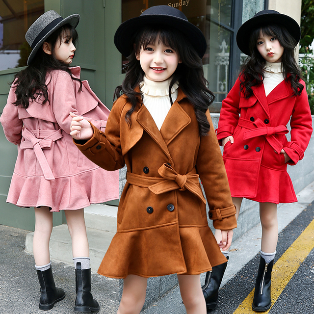1fe6ce699aff Girl Thickening Outwear Winter Warm Jackets For Girls Teens 5 6 7 8 ...