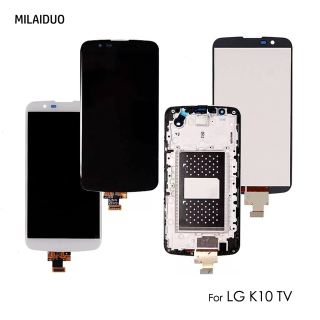 Original LCD Display For LG K10 TV K10TV K430TV K410TV Touch Screen Digitizer Full Assembly Replacement With Frame 5.3 inch