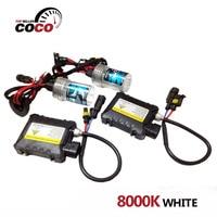 1Set 8000K White DC 12V 55W Light Bulb H1 H3 H7 H8 H9 H10 H11 9005
