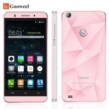 Gooweel MT6580 M5 Pro teléfono móvil Original de cuatro núcleos 5 pulgadas IPS smartphone 1 GB RAM 8 GB ROM cámara de 5MP + 8MP GPS 3G celular teléfono