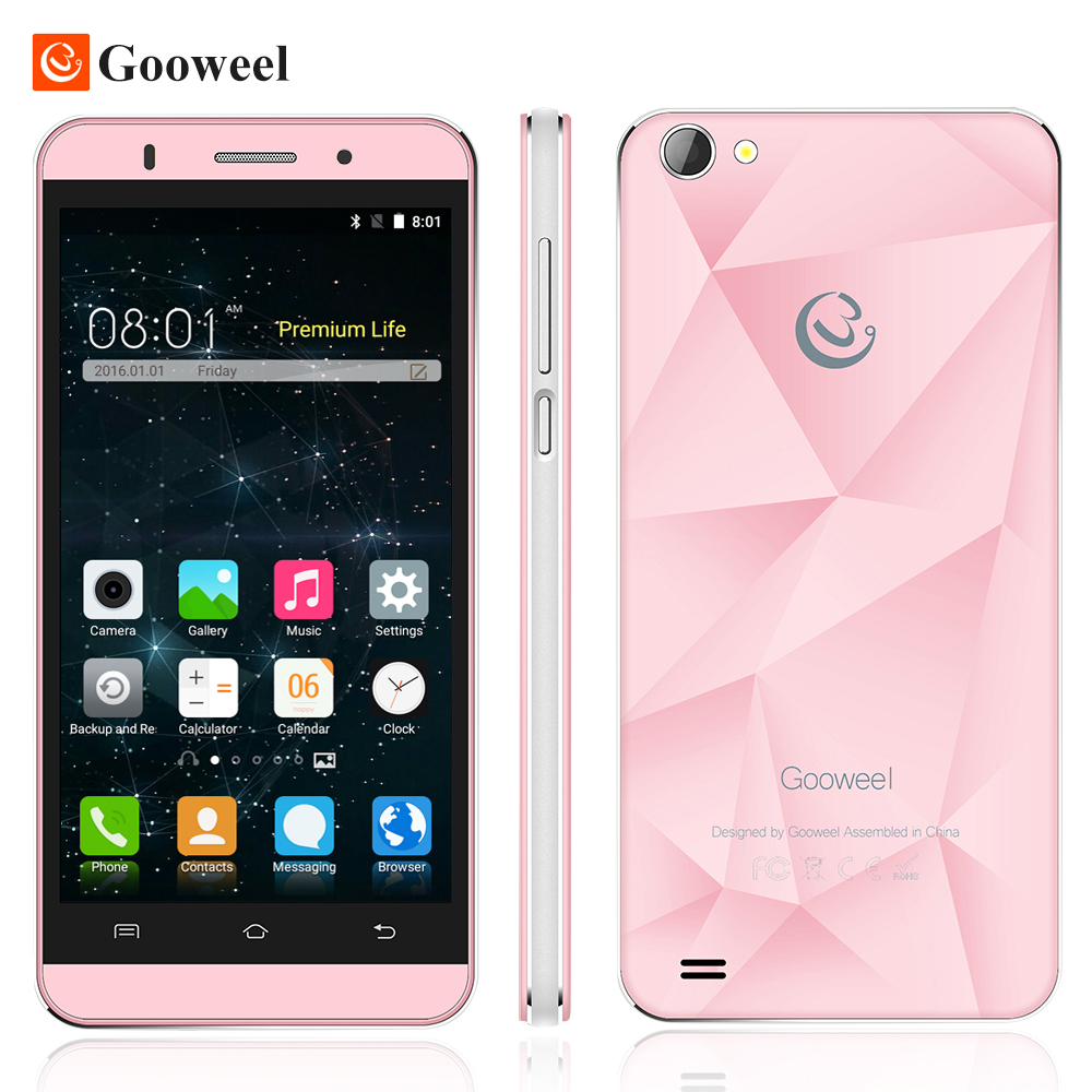 Original Gooweel M5 Pro mobile phone MT6580 quad core 5 inch IPS  smartphone 1GB RAM 8GB ROM 5MP+8MP camera GPS 3G cell phone