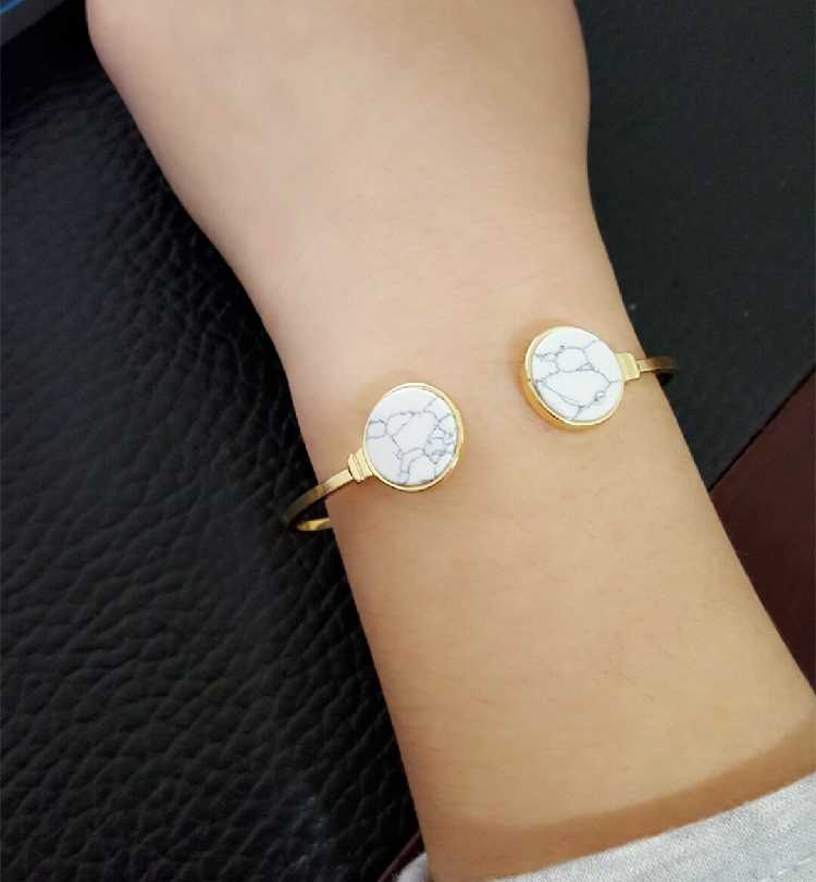 8d382d99c8c ... Online Shopping Indian Jewelry Round Black White Stone Open Cuff  Bracelets Bangles Gold Color Adjustable Bracelet ...