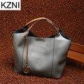KZNI genuine leather handbags brand new  luxury handbags women bags designer sac a main femme de marque  bolsas feminina L111353