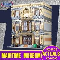 X модели Строительство Игрушка совместима с Lego X01005 5052 шт. морской музей Конструкторы игрушечные лошадки хобби для обувь мальчиков