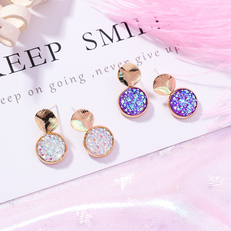 2019 New Fashion Temperament Wild Girl Heart Earrings Jewelry Europe Crystal From Austrian 2 Colors Fit Women And Female