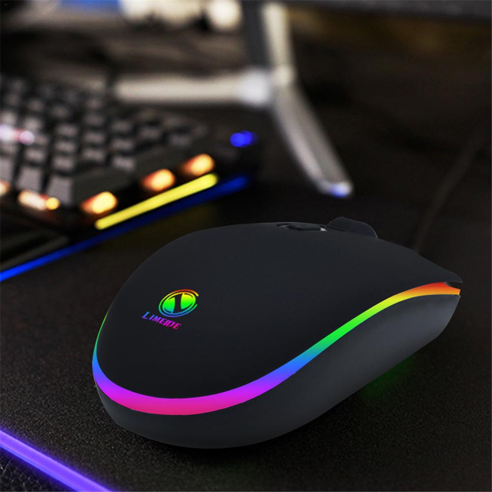 007RGB Marquee Lighting Wired Gaming Mouse USB Wired Mouse Simple Connect to Laptop PC Computer in Mice from Computer Office