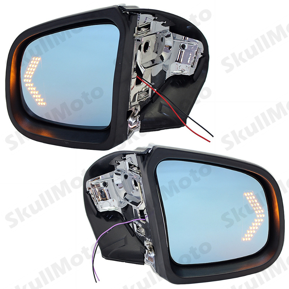 Motorcycle Accessories Chrome Rearview Side Mirrors LED Blinker Turn Signals For 1999-2008 BMW K1200LT K1200M UNDEFINED