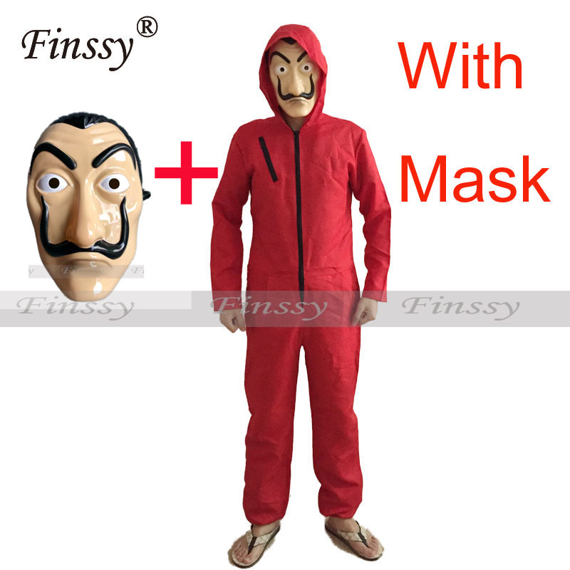 Money Heist House of Paper La Casa De Papel Dali Cosplay Costume Halloween Stage Performance Costume Robbery clothes
