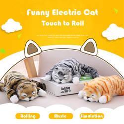 Электрический Кот 30 см Забавный симулятор Электрический Кот рулон плюшевые животные кошки игрушки Детские милые игрушки Детские