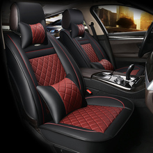 цена на HLFNTF Leather Car Seat cover For Benz A B C D E S series Vito Viano Sprinter Maybach car accessories car-styling