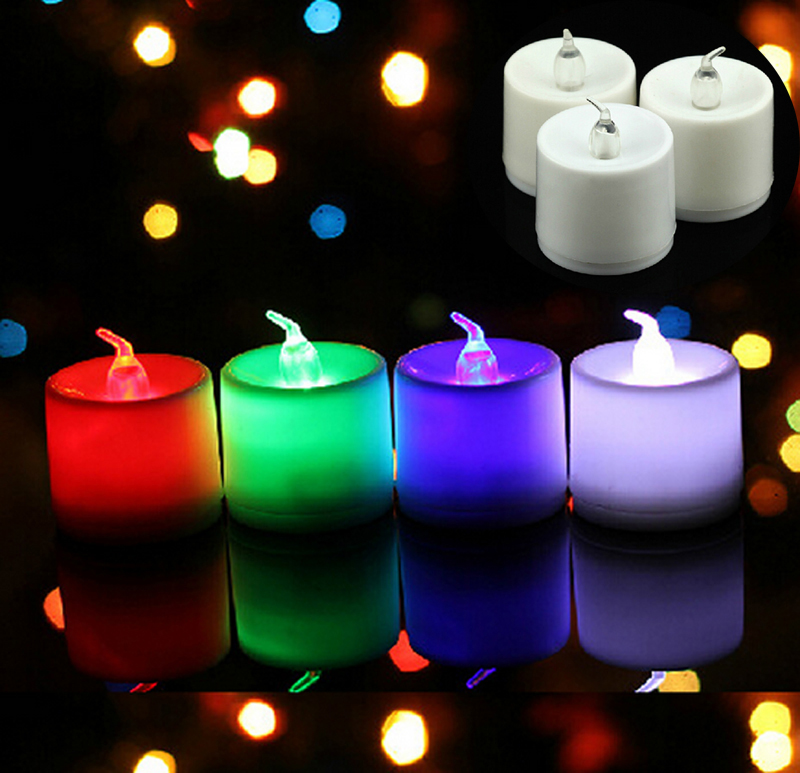 Flameless Flickering LED Candles Tea Light Electronic Small Tealight Safety Wedding Birthday Party Decoration Lamp S