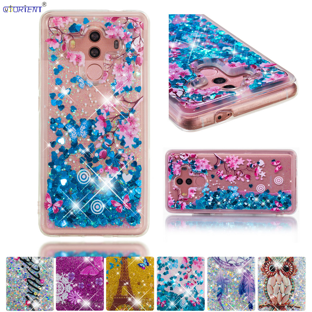 Cellphones & Telecommunications Brilliant Fitted Case For Huawei Mate 10 Pro Glitter Dynamic Liquid Quicksand Silicone Phone Cover Mate10 Pro Bla-l29 Bla-l09 Back Funda Smoothing Circulation And Stopping Pains Half-wrapped Case