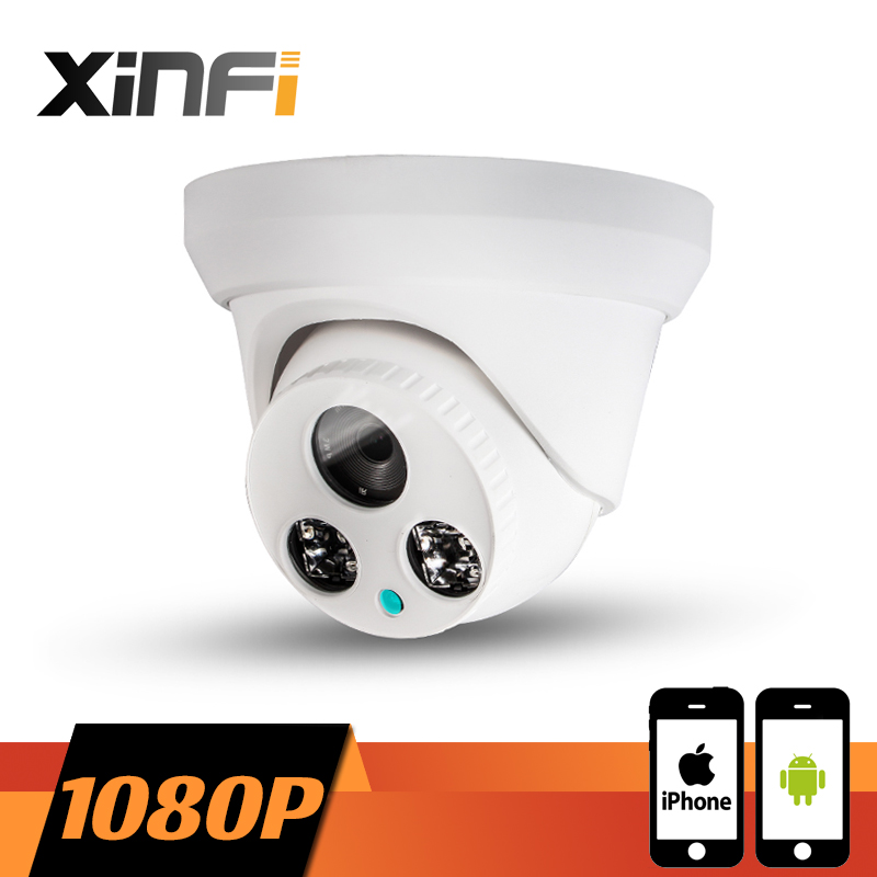XINFI HD 1920*1080P Indoor network camera CCTV IP camera Surveillance dome Camera 2.0 MP P2P ONVIF 2.0 PC&Phone remote view