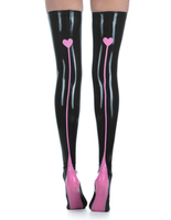 High Quality Latex Rubber Stockings Sexy High Tight Body Stocking With Contrasting Trim Color