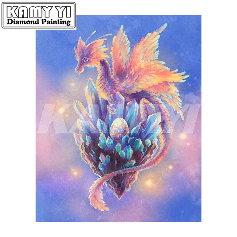 5D Diy Diamond Painting Cross Stitch Cartoon Dragons Diamond Embroidery Full Mosaic Kits Handmade Craft Decor-hcr3