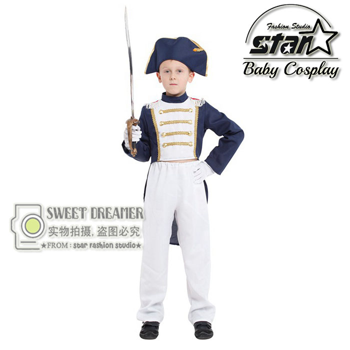 3-12 Years Old Halloween Costume Kids Cosplay Napoleon Performance Wear for Boys Vintage Style King Children's Sets halloween cosplay costume children little napoleon long acting costume