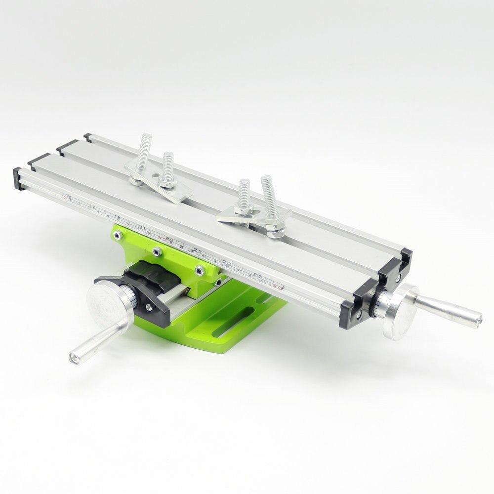 Neue Miniatur präzision multifunktions Fräsen Maschine Bench bohrer Schraubstock Leuchte arbeitstisch X Y-achse einstellung Koordinieren tisch