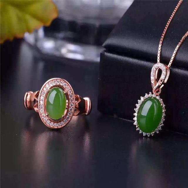 Jasper set inlaid jewelry jewelry natural jewelry free postage