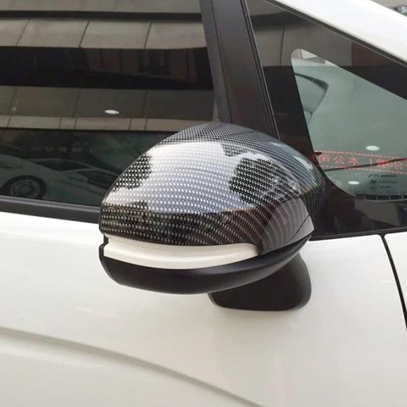 Pour Honda City 2015 2016 2017 2018 ABS fibre de carbone voiture rétroviseur couverture garniture voiture style accessoires 2 pièces