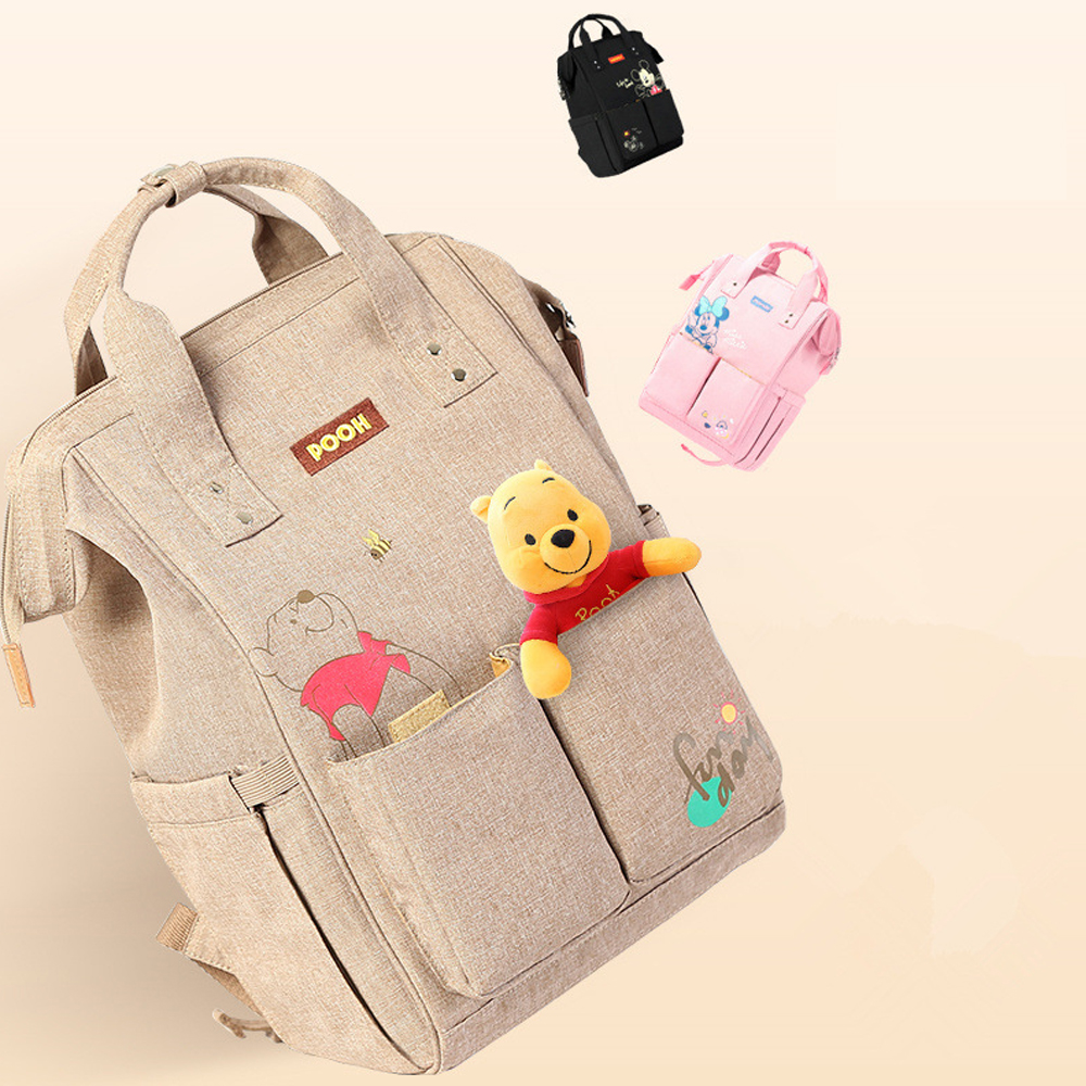 New USB Heating Baby Diaper Bag Large Baby Nappy Bag Waterproof Backpack Maternity Bags Baby Care Changing Bag For Stroller