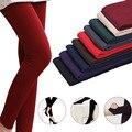 El nuevo otoño atractiva delgada, además de terciopelo Leggings mujeres elástico del panty caliente siesta pantalones pie vestido