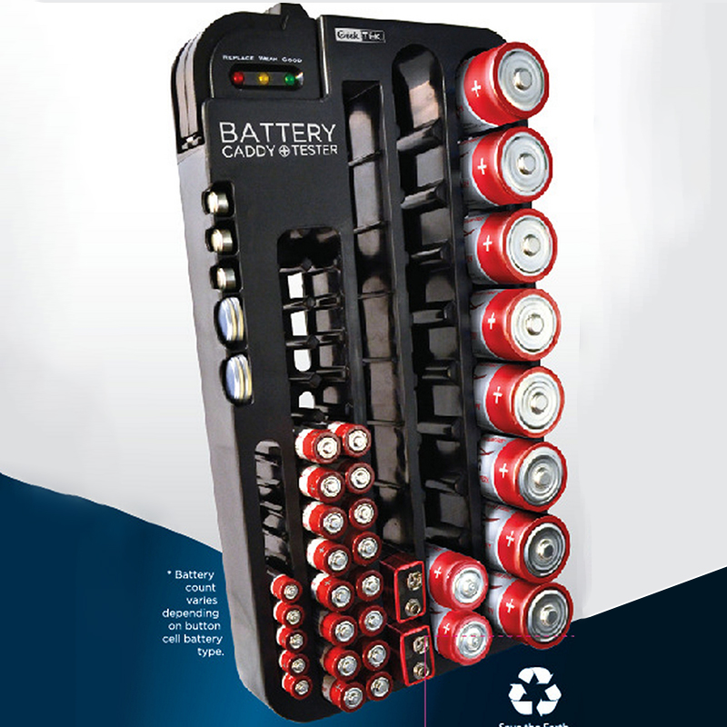 Plastic Battery Storage Box Aa Aaa 9v Ag Cr Removable