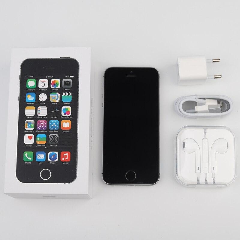 US $89 99 |Original Unlocked Apple iPhone 5s, 4G LTE Mobile Phones, 4 0  inch, 16GB/32GB/64GB ROM, IOS GPS Touch ID iCloud NFC Smartphones-in