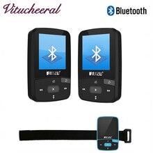 Más nuevo 2017 de la marca de Alta Fidelidad reproductor de música soporte de Grabación de FM E-Book Reloj Podómetro RUIZU X50 Deporte mini Clip Reproductor MP3 Bluetooth