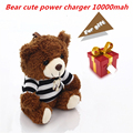 Мощность Медведь Милый Мультфильм Power Bank 10000 мАч Большой Емкости Универсальный Портативный Внешний Зарядное Устройство для Iphone 7 Plus Iphone