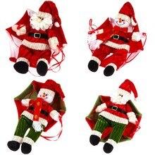 Рождественские домашние потолочные украшения с парашютом 24 см Санта Клаус смоумен новый год подвесной кулон рождественские украшения принадлежности