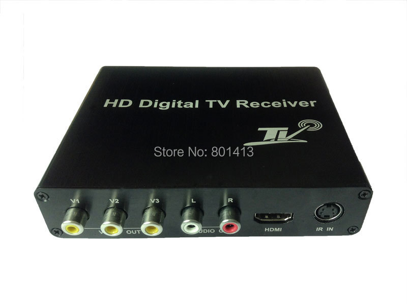 DVB-T2 Mobile Digital TV Receiver for Car Two TUNER new car dvb t2 digital tv box dual tuner mpeg2 and mpeg4 avc h 264